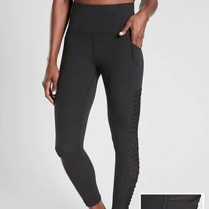 NWT Athleta Black Salutation Twist 7/8 Leggings